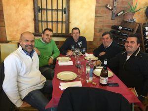 V.l.n.r.: Martin Freixa, Eloy Haya, Ernesto Frago, Ricardo Frago en Diego Frago.