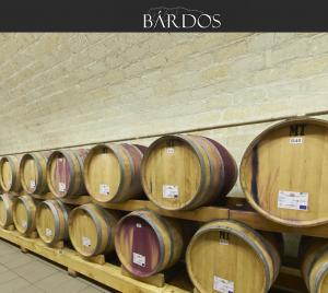 Wijnvaten op Domaine Bardos