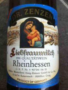 Liebfraumilch Rheinhessen Duitse wijn