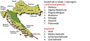 Kroatische wijngebieden