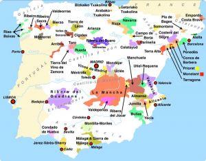 Spaanse wijngebieden