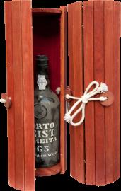 Kist Wijnrol met fluweel rode inleg