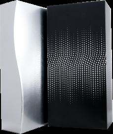 LUXE DOOS 2 FL zwart, zilver stippen